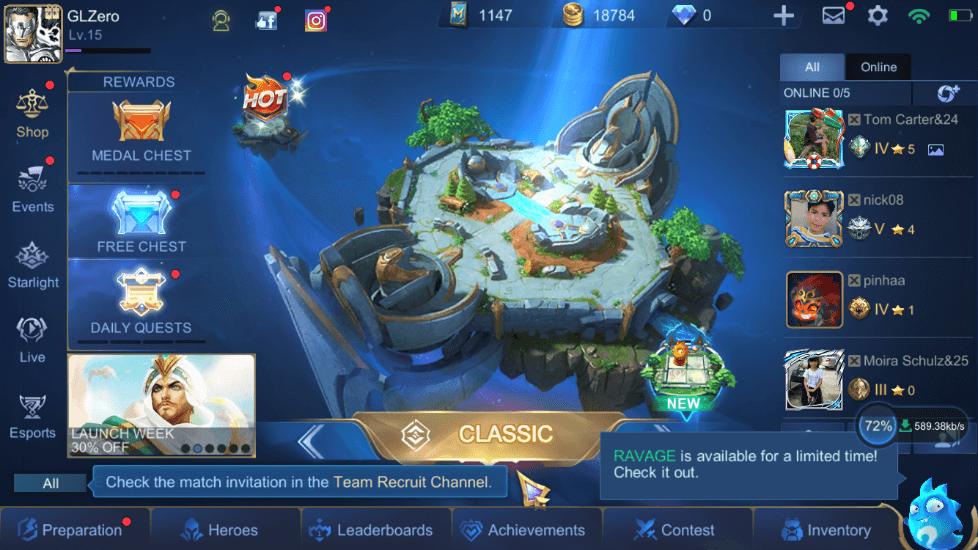 Mobile Legends Bang Bang Lobby